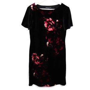 American Living Womens Tunic Dress Black Pink Flor